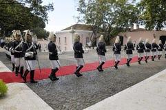 Garde d'honneur présidentielle, Lisbonne, Portugal Image stock