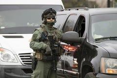 Garde d'opération spéciale en service pendant le Donald Trump Inauguration Photographie stock