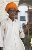 Garde de Rajput dans Pushkar Photo libre de droits