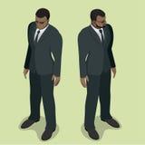 Garde de sécurité d'homme de couleur Contrôle de visage de garde de sécurité Agent de sécurité de boîte de nuit Garde de sécurité Photographie stock libre de droits