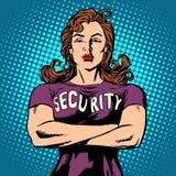 Garde de sécurité de femme Image libre de droits