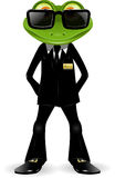 Garde de sécurité de grenouille Image libre de droits