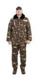 Garde de sécurité portant l'uniforme vert Image stock