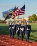 Garde du drapeau de lycée Image libre de droits