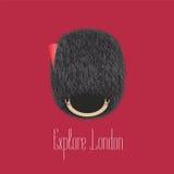 Garde du ` s de reine, illustration traditionnelle de chapeau de hallebardier Photo stock