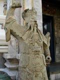 Garde en pierre d'imposition avec la barbe débordante - Royal Palace Images libres de droits