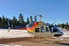 garde forestière d'avion à réaction d'hélicoptère de 206 cloches Photo libre de droits
