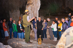 Garde forestière de stationnement de cavernes de Carlsbad photographie stock