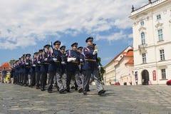 Garde la marche militaire Photo stock