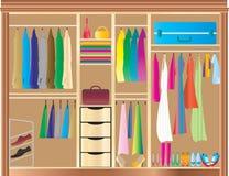 Garde-robe adaptée Photo stock