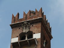 The Gardelle tower in Verona in Italy Stock Photography