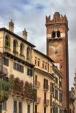 Gardello tower in Erbe square Stock Photography