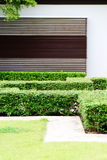 Garden. Exterior of a modern housing complex with gardens Royalty Free Stock Photo