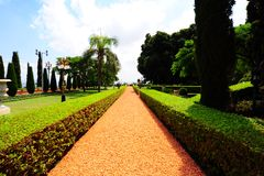 Garden. Beautiful Tranquil Green Park Garden In Spring Royalty Free Stock Images