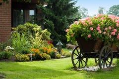 Garden. Typical German garden in summer Royalty Free Stock Image