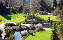Garden. A garden in the pacific northwest Stock Image