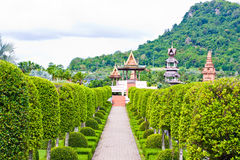 Garden. A garden is a planned space, usually outdoors, set aside for the display, Cultivation, and enjoyment of plants and other forms of nature Royalty Free Stock Photography