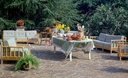 Garden. Sitting table and chairs at the garden Royalty Free Stock Image