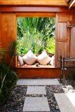 The garden. Relax corner in the garden Stock Photos
