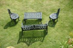 Garden. Nice Relaxing Garden Arrangements and Chairs Royalty Free Stock Image