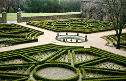 Garden. Trimmed maze hedges - El Escorial Madrid Royalty Free Stock Photography