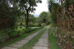 Garden. Entrance to a beautiful garden stock image