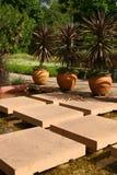 Garden. Tropical oriental garden Stock Photos