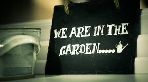 We are in the garden Stock Photography