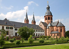 Garden of Abbey Seligenstadt Stock Image