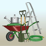 Garden accessories. Equipment for summer work. Building. Royalty Free Stock Photography