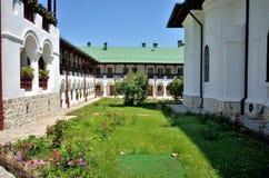 Garden of Agapia orthodox monastery Stock Photo