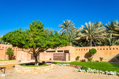 Garden at Al Ain Palace Museum Royalty Free Stock Photography