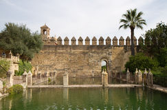 Garden of the Alcazar de los Reyes Cristianos Royalty Free Stock Image