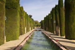 Garden of the Alcazar de los Reyes Cristianos Stock Image