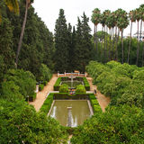 Garden in Alcazar Palace. Seville, Spain Royalty Free Stock Images