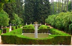 Garden in Alcazar Palace. Seville, Spain Royalty Free Stock Photos