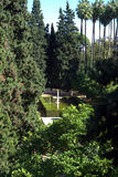 Garden in Alcazar Palace Stock Photography