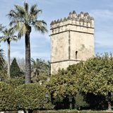 Garden of Alcazar Palace in Cordoba, Spain Stock Photo