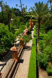 Garden of  Alcazar Palace, Seville Royalty Free Stock Images