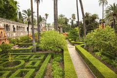 Garden Alcazar Royal Palace Seville Spain Royalty Free Stock Images
