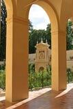 Garden in Alcazar of Seville Spain Royalty Free Stock Images