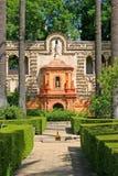Garden in Alcazar of Seville Spain stock photography