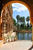 Garden in Alcazar of Seville Spain Royalty Free Stock Image