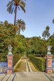 Garden in Alcazar of Seville, Spain Royalty Free Stock Photography
