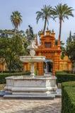 Garden in Alcazar of Seville, Spain Royalty Free Stock Photos