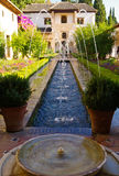 Garden of alhambra. With fountain, granada,spain Stock Image