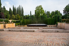 Garden in Alhambra Royalty Free Stock Image