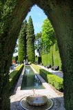 Garden of Alhambra Stock Images