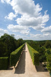 The garden and alley of versailles Royalty Free Stock Photo