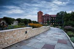 Garden Alley at Wawel Royal Castle in Krakow Stock Photo